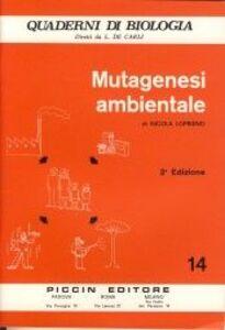 Libro Mutagenesi ambientale Nicola Loprieno