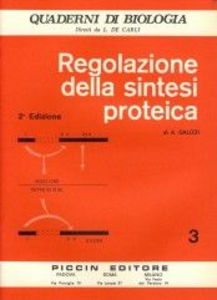 Libro Regolazione della sintesi proteica Alessandro Galizzi