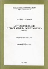 Lettere circolari e programmi di insegnamento