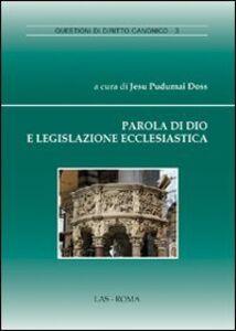 Libro Parola di Dio e legislazione ecclesiastica