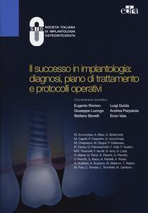 Il successo in implantologia: diagnosi, piano di trattamento e protocolli operativi