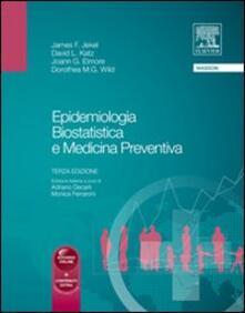 Epidemiologia, biostatica e medicina preventiva - James Jekel,David Katz,Joann Elmore - copertina