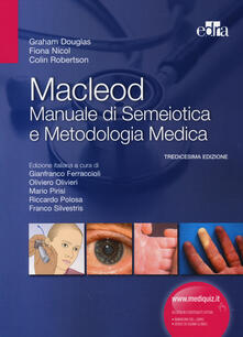 Grandtoureventi.it Macleod. Manuale di semeiotica e metodologia medica Image