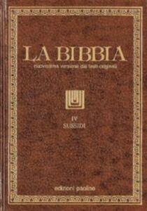 Libro La Bibbia. Vol. 4: Sussidi.