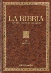La Bibbia. Vol. 4: Sussidi.