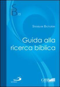 Libro Guida alla ricerca biblica Stanislaw Bazylinski