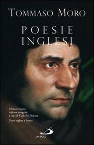 Libro Poesie inglesi Tommaso Moro