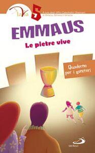 Libro Emmaus. Le pietre vive. Quaderno per i genitori. Vol. 5