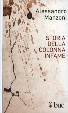 Storia della colonna infame - Alessandro Manzoni - copertina