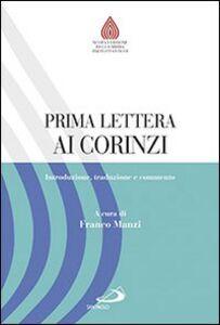 Libro Prima lettera ai Corinzi. Introduzione, traduzione e commento