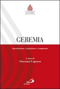 Libro Geremia. Introduzione, traduzione e commento