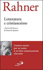 Libro Letteratura e cristianesimo Karl Rahner