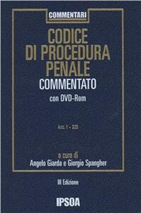Codice di procedura penale commentato. Con DVD