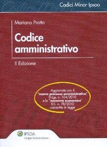 Foto Cover di Codice amministrativo, Libro di Mariano Protto, edito da Ipsoa