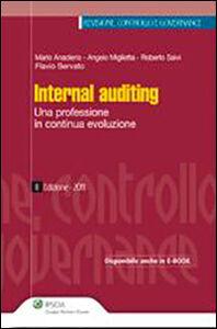 Foto Cover di Internal auditing. Una professione in continua evoluzione, Libro di  edito da Ipsoa