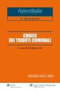 Libro Codice dei tributi comunali Girolamo Ielo