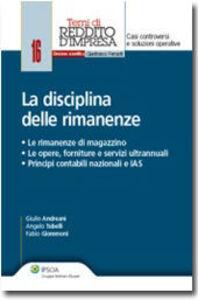 Libro La disciplina delle rimanenze Giulio Andreani , Angelo Tubelli , Fabio Giommoni
