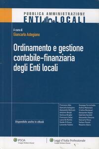Ordinamento e gestione contabile-finanziaria degli enti locali