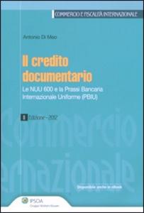 Libro Credito documentario Antonio Di Meo