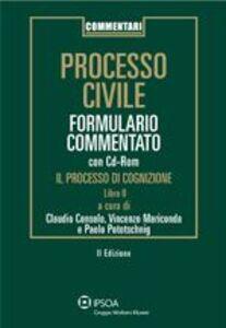 Libro Formulario processo civile. Processo di cognizione