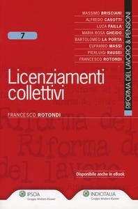 Libro Licenziamenti collettivi Francesco Rotondi