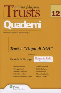 Libro Trust e «Dopo di noi»