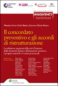 Foto Cover di Il concordato preventivo e gli accordi di ristrutturazione, Libro di Massimo Ferro, edito da Ipsoa