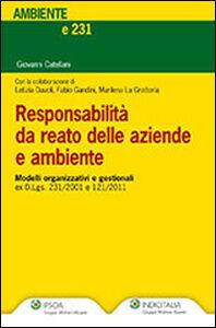 Libro Responsabilità da reato delle aziende e ambiente Giovanni Catellani