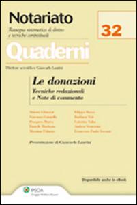 Libro Le donazioni. Tecniche redazionali e note di commento