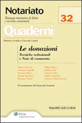 Le donazioni. Tecniche redazionali e note di commento