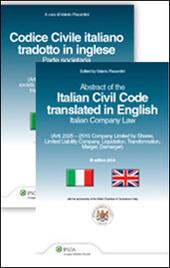 Codice civile italiano tradotto in inglese. Parte societario