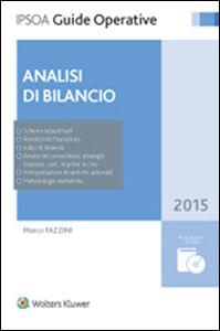 Foto Cover di Analisi di bilancio. Con CD-ROM, Libro di Marco Fazzini, edito da Ipsoa