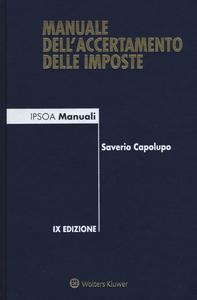 Libro Manuale dell'accertamento delle imposte Saverio Capolupo
