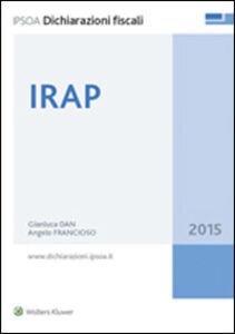 Foto Cover di Irap, Libro di Gianluca Dan,Angelo Francioso, edito da Ipsoa