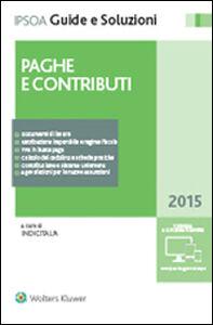 Foto Cover di Paghe e contributi, Libro di  edito da Ipsoa