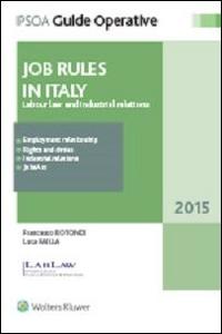 Libro Jobs rules in Italy Francesco Rotondi , Luca Failla