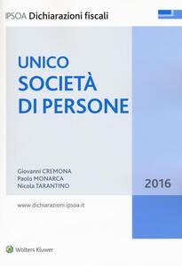 Unico 2016. Società di persone