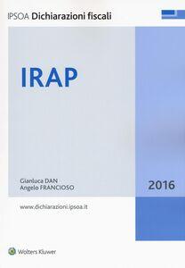 Libro IRAP 2016 Gianluca Dan , Angelo Francioso