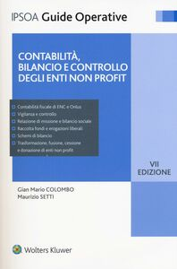 Libro Contabilità, bilancio e controllo degli enti non profit. Con e-book G. Mario Colombo , Maurizio Setti