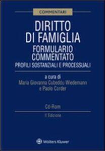 Libro Diritto di famiglia. Formulario commentato. Con CD-ROM