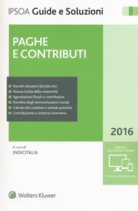 Libro Paghe e contributi 2016