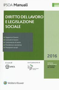Libro Diritto del lavoro e legislazione sociale. Con aggiornamento online