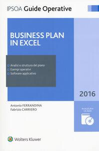 Foto Cover di Business plan in excel. Con CD-ROM, Libro di Antonio Ferrandina,Fabrizio Carriero, edito da Ipsoa