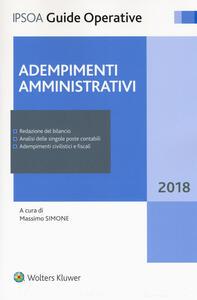 Adempimenti amministrativi. Con Contenuto digitale per accesso on line