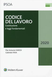 Capturtokyoedition.it Codice del lavoro. Costituzione e leggi fondamentali Image