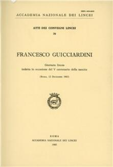 Francesco Guicciardini - copertina