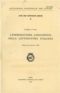 Espressivismo linguistico nella letteratura italiana (L')