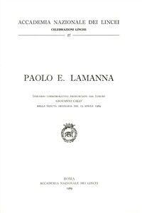 Foto Cover di Paolo E. Lamanna, Libro di Giovanni Calò, edito da Accademia Naz. dei Lincei