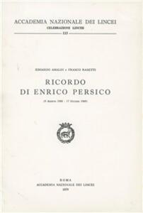 Ricordo di Enrico Persico