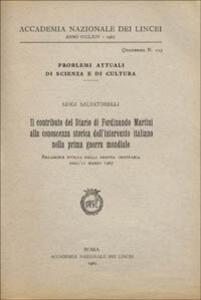 Il contributo del Diario di Ferdinando Martini alla conoscenza storica dell'intervento italiano nella prima guerra mondiale